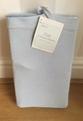Tesco Pack Of 2 Fitted Cot Sheets 100% Cotton Jersey