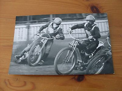 speedway photographs--Ronnie Genz outside Arne Pander (Oxford)     (530)