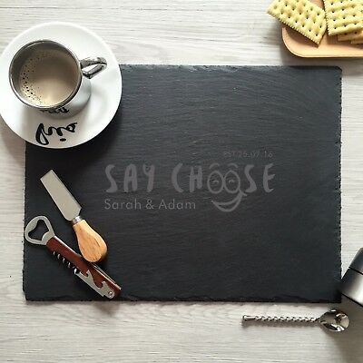custom slate cheese board personalized cutting board laser engraved kitchen sign