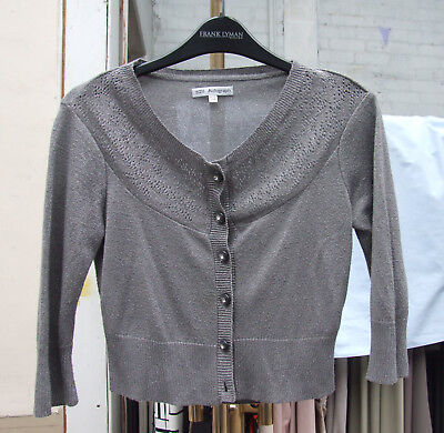 Autograph 11-12 year Fabulous Girls Smart Silver Cardigan Long Sleeve Cardi