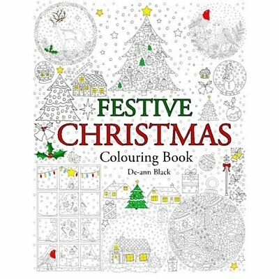 Adults Colouring Book Festive Beautiful Christmas Paperback for Relaxing and Fun