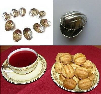Sets 10-100 pcs Metal Mold Forms For Sweet Russian Oreshki Pastry Cookie Nutlets