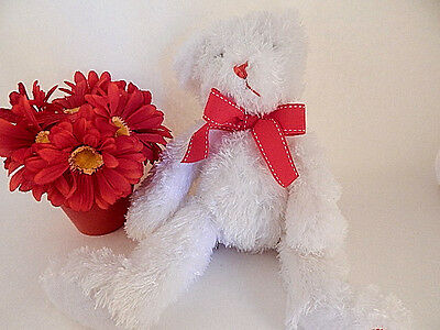 Teddy Bear White Silky Stuffed Plush American Greetings Valentines Day Gift NWT