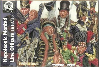 Waterloo 1815 - 028 - Napoleonic Monted Line Officers 1813 - 1:72