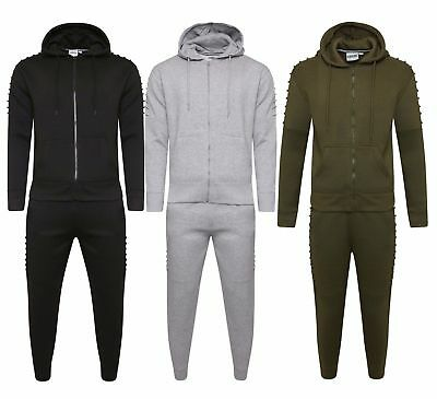 Men's Boys Corduroy Pocket Full Tracksuit Joggers Slim Fit Ribbed Trouser Hoodie