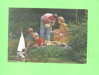 Vintage Calendar Image Picnic Time 2 Boys And Family