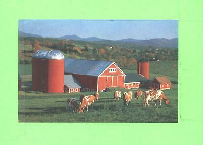 Vintage Calendar Image Barn And Cow Quiet Scene