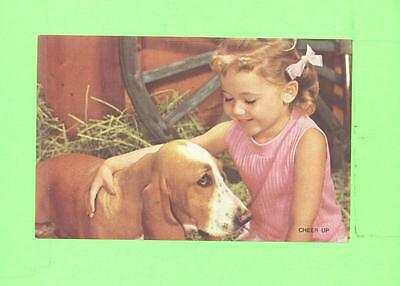 Vintage Calendar Image Little Girl With Dog ..,