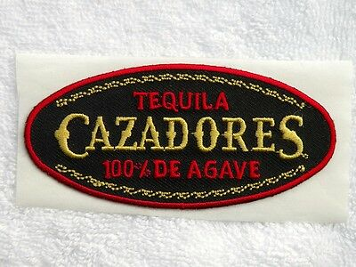 "TWO ( 2 ) TEQUILA CAZADORES 100% DE AGAVE PATCHES ~ 3 7/8"" x 1 7/8"" ~ FREE SHIP"