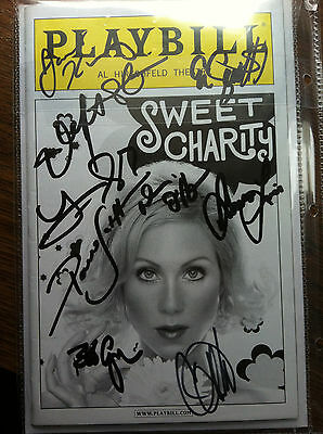 Sweet Charity playbill cast signed Christina Applegate autographed