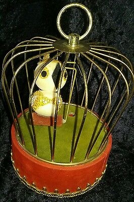 Vintage Berman & Anderson Christmas Musical Bird Cage