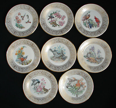 Lenox Boehm Bird Plates - 8 Annual Collectors Limited Edition China 1974 -1981
