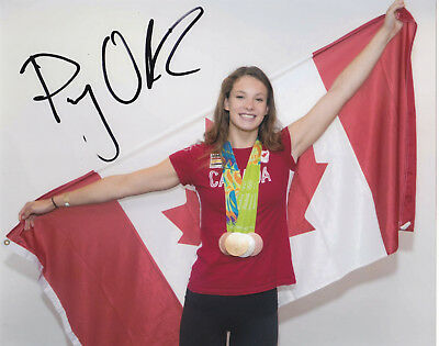 Penny Oleksiak Signed Autographed 2016 Olympics Swimming  8X10 Photo Proof #2