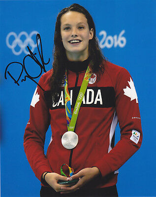 Penny Oleksiak Signed Autographed 2016 Olympics Swimming  8X10 Photo Proof