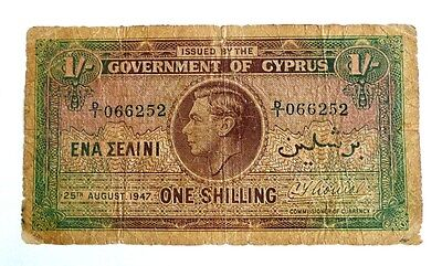 Cyprus  Bank Notes -   1 Shilling   25.8.1947     D-I_066252