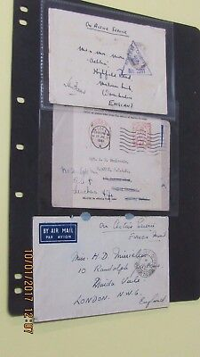 WWII Lot 34 Field Post, OHMS,Censored, Active Service Covers to GB, Canada, USA