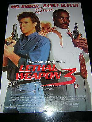 Original Leathal Weapon 3 Promotional Poster