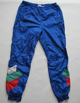 Adidas Ventex 1980s made in France nylon mens tracksuit trousers pants D8 44-46