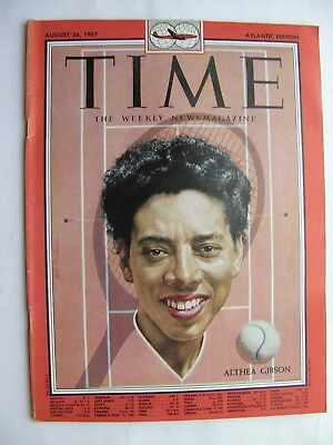 TIME MAGAZINE August 26 1957 Althea Gibson Jean Kerr Elliott Nugent Ma Perkins