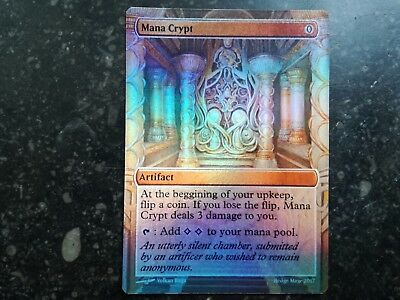 Foil Full Art Mana Crypt Invention - Magic The Gathering Altered-Artwork Cards