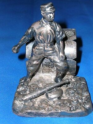 Antique Victorian Pairpoint Silver Plate Figural Baseball Player Napkin Ring Ma