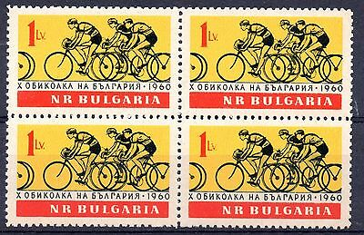 Bulgaria (5721)  1960 Cycling in blocks of 4 Unmounted mint Sg1211
