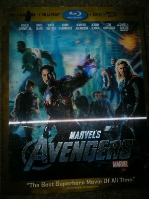 Marvel The Avengers 3D Blu Ray set with Lenticular slip cover, no digital code