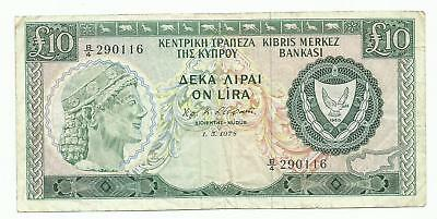 CYPRUS 10 pounds 1978 Scarce date