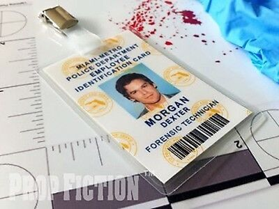 Dexter - Miami Metro Police Forensics Department Clip-on Prop ID Card