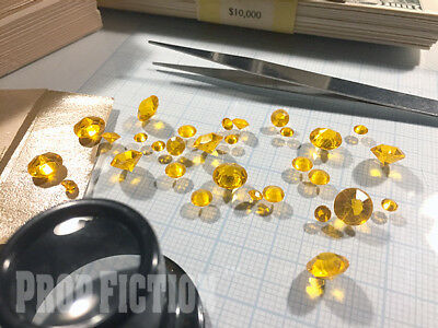 Movie Prop Citrine Set - Film Prop Faux / Fake Yellow Citrine / Display Gems