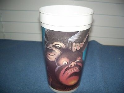 """Vintage Pepsi Mummy & Wolfman Universal Studios Monsters Cup Approx 7"""""""