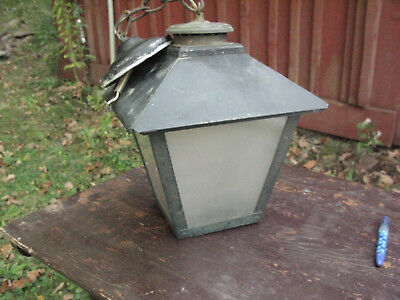 Painted Copper Porch Light with Frosted Glass