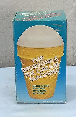 Vintage 1986 Barry & Stacy Helman The Incredible Ice Cream Machine / Maker