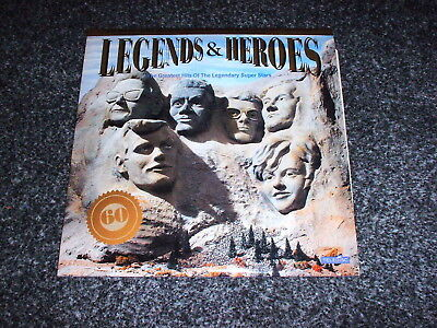3 Disc 1991 Rock And Roll Heroes & Legends Compilation 60 Track Album Vinyl Lp@