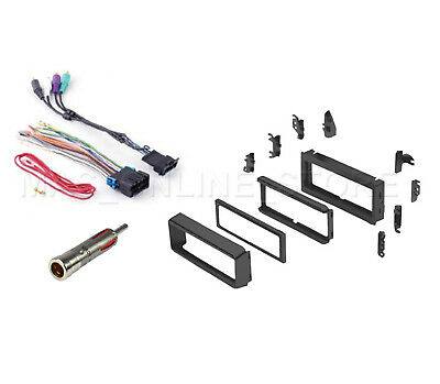 Single DIN Dash Kit Amp Wire Harness Antenna for 00-03 Pontiac Grand Prix