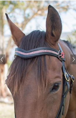 Leather Bling Browbands Pony, Cobb or Full