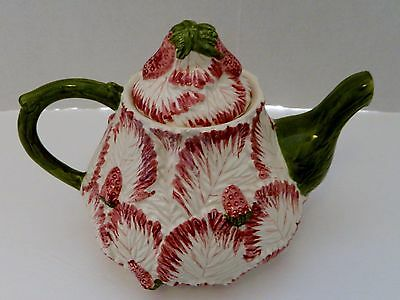 Strawberry Ceramic Figural Teapot Made in Portugal Jay Willfred Andrea by Sadek