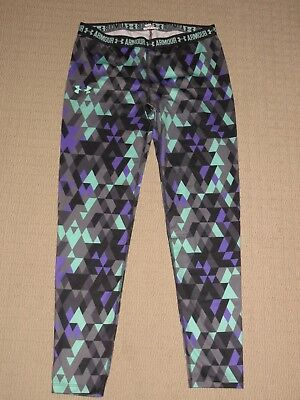 Womens Under Armour Compression Leggings Pants Large Fitness Athletic Workout