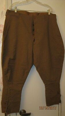Original US WW1 WWI Officer Grade Paris Manufactured Wool Britches LARGE Size