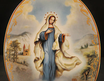Our Lady Of Medjugorje Wall Art Plaque By Bradford Exchange - Rare Collectible
