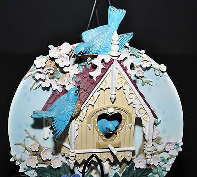 Bradford Exchange Our Gingerbread Cottage Nesting Neighbours 3D Handpainted Art