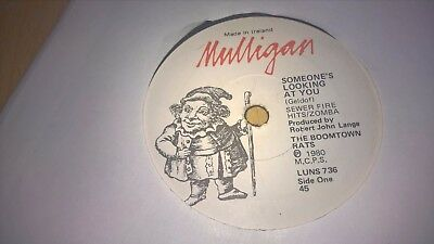 "THE BOOMTOWN RATS - Someones Looking At You - IRISH PRESSING 7"" MULLIGAN"