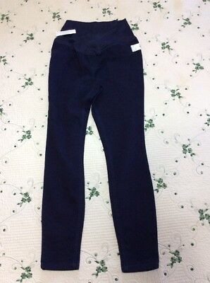 """Womens Size M """"Great Expectations"""" Navy Blue Maternity Jeggings Leggings"""
