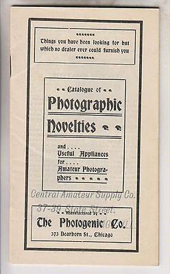 Vintage Booklet - Catalogue Of Photographic Novelties - Photogenic Co Chicago