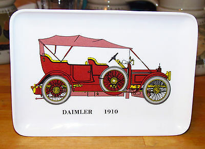 2 Automotive Trays: 1910 DAIMLER & 1915 FORD MODEL 'T' - MEBEL Decorative Crafts