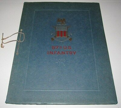 1918 BOOK - HISTORY AND PHOTOGRAPHIC RECORD OF THE 57th UNITED STATES INFANTRY