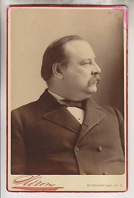 CIRCA 1880s-90s CABINET CARD - GROVER CLEVELAND