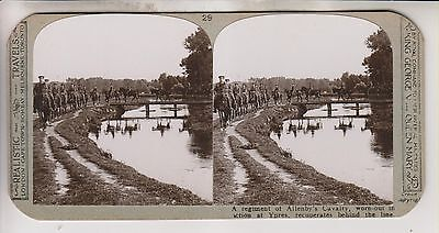 Wwi Stereoview - Regiment Of Allenby's Cavalry - Realistic Travels