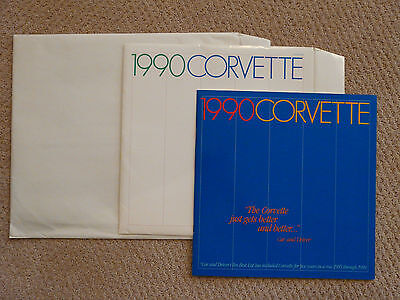 1990 Corvette Sales Brochure - 2 original envelopes*