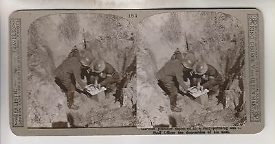 Wwi Stereoview - German Prisoner Pointing Out Unit Position - Realistic Travels